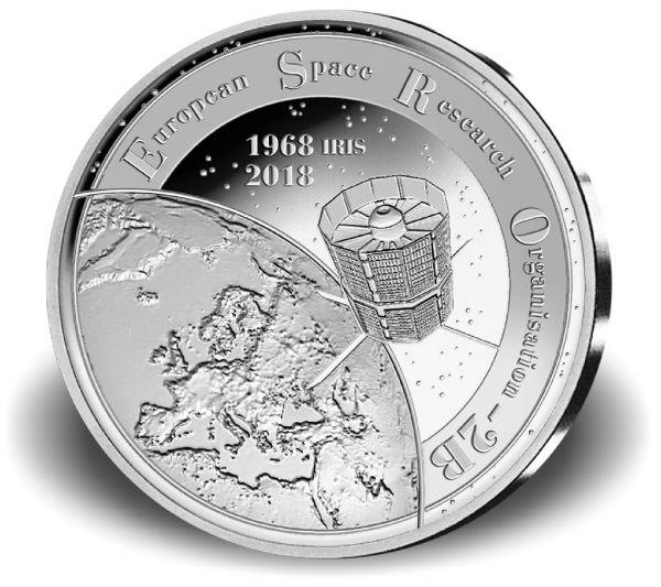 """20 € Belgien """"50 J. Satellit ESRO"""" 2018 Silber PP"""