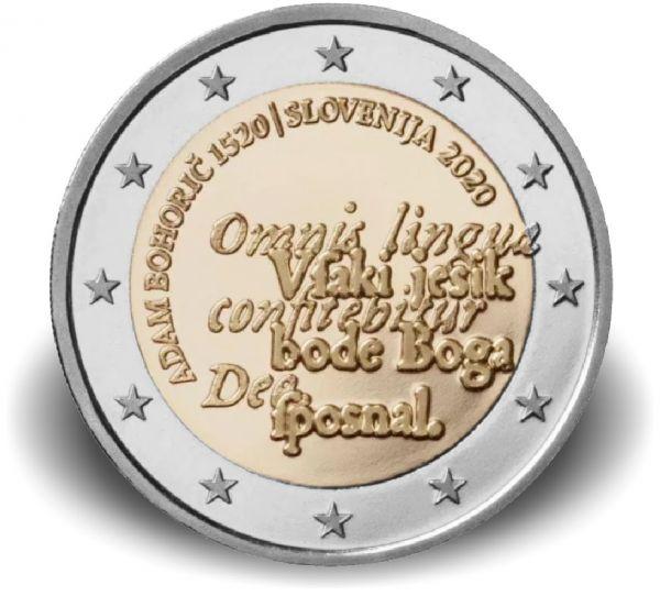 2 Euro Slowenien 500. Gb. von Adam Bohorič 2020 CuNi bfr