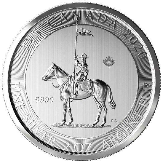 10 Dollar Kanada Mounted Police 2020 2oz Silber St