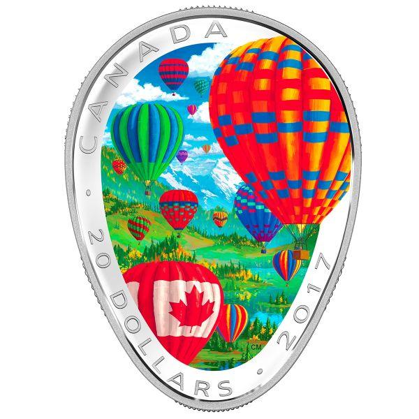 "20 $ Kanada ""Heißluftballons"" 2017 Ag PP"