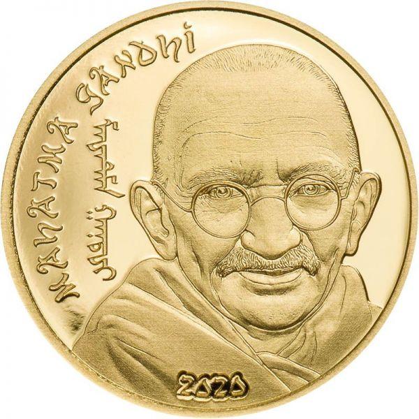 1000 Togrog Mongolei Mahatma Gandhi 2020 Gold PP