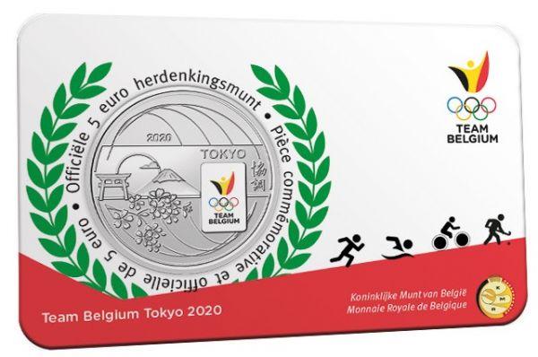 5 Euro Belgien Olympia Team Belgien 2021 CN St Coincard farbig