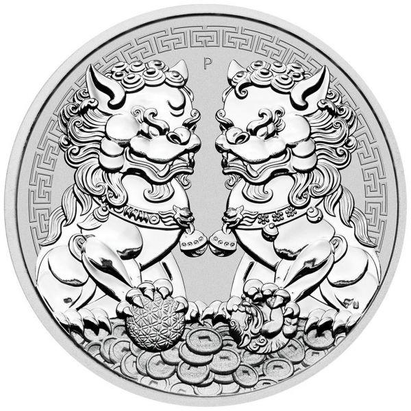 1 Dollar Australien Guardian Lions - Double Pixiu 2020 Silber St