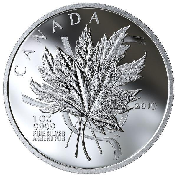 """20 $ Kanada """"Maple Leaf - Geliebtes Ahornblatt"""" 2019 Silber PP"""