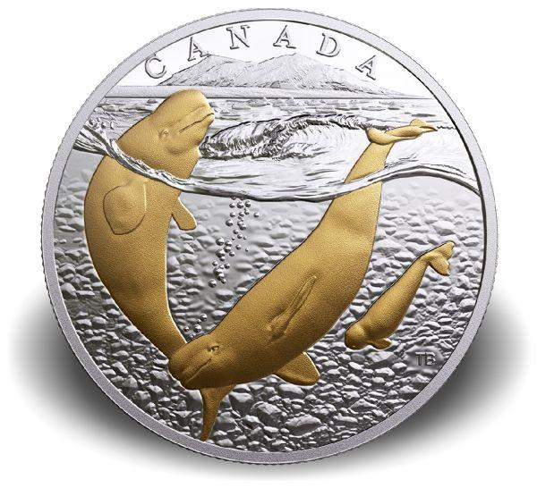 """20 $ Kanada """"Beluga Wal"""" 2018 Ag PP"""