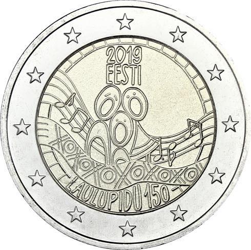 "2 € Estland ""Liederfest - UNESCO"" 2019 CuNi bfr"