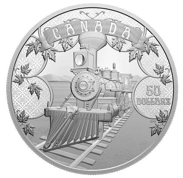 50 Dollar Kanada Aufstrebendes Land - Konföderation 21 Silber PP