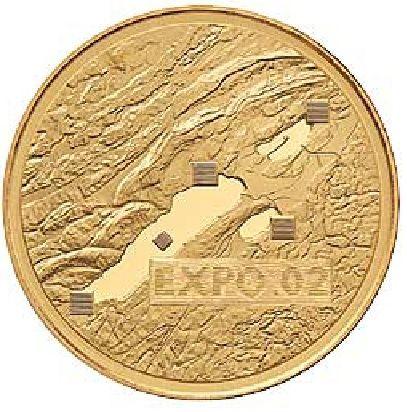 """50 CHF Schweiz """"Expo 02"""" 2002 Gold PP"""