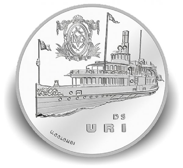 """20 CHF Schweiz """"Dampfschiff Uri"""" 2017 Ag PP"""
