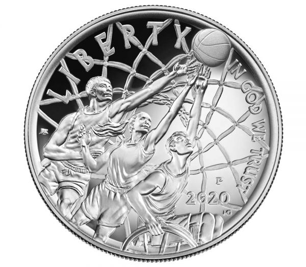 1 Dollar USA Basketball - Hall of Fame 2020 Silber PP