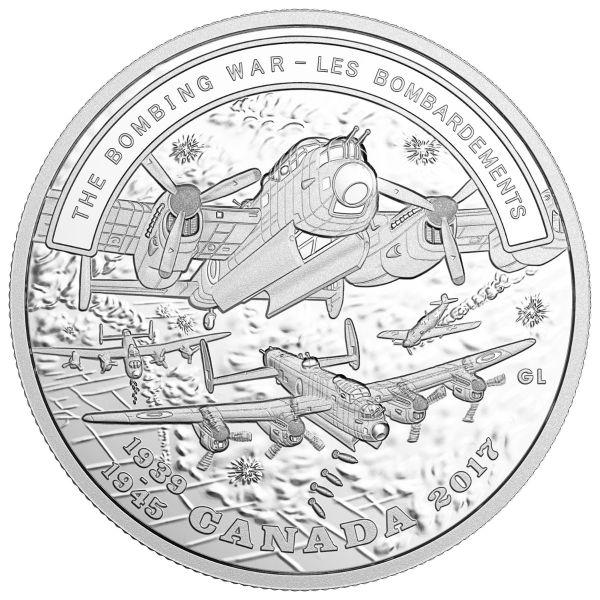 """20 $ Kanada WW2 """"Der Bombenkrieg"""" 2017 Ag PP"""