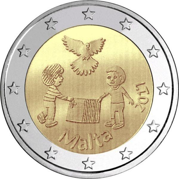 """2 € Malta """"Frieden"""" 2017 CN bfr"""