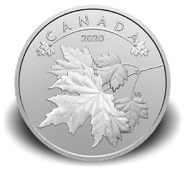 10 Dollar Kanada O Canada - Ahornblätter 2020 Silber St