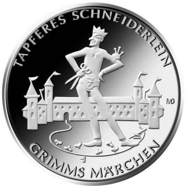 """20 € DE """"Tapferes Schneiderlein"""" 2019 Silber PP -G-"""