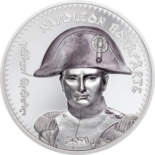 1000 Togrog Mongolei Napoleon Bonaparte 2021 Silber PP