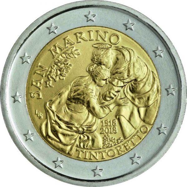 "2 € San Marino ""500. Geburtstag Tintoretto"" 2018 CuNi bfr"