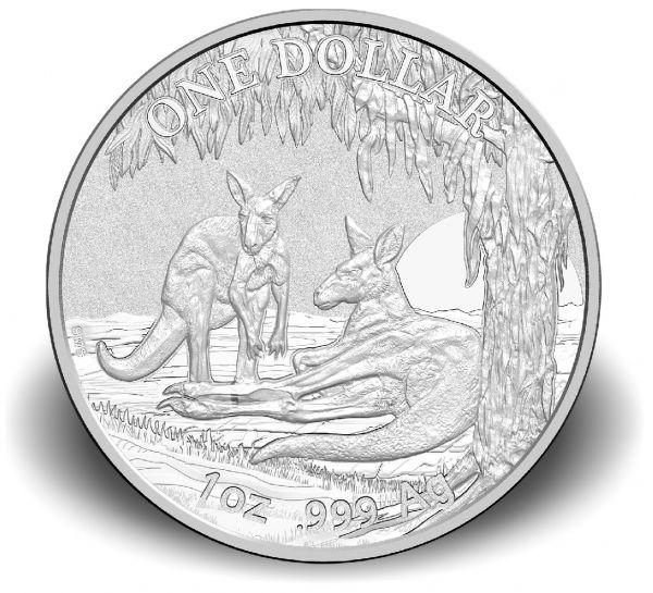 1 $ Australien Känguru 2018 Blister Ag St