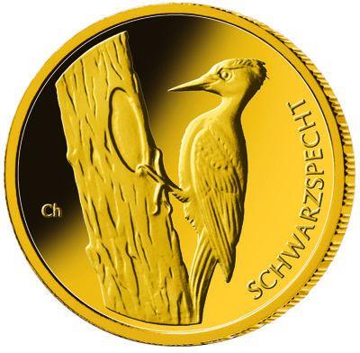 20 Euro DE Schwarzspecht 2021 Gold St 1/8oz -F-