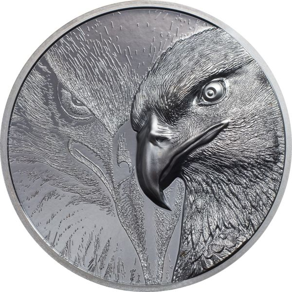 1000 Togrog Mongolei Majestic Eagle 2020 2oz Silber PP