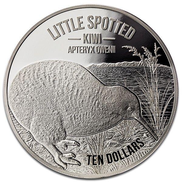 10 Dollar Neuseeland Kiwi 2018 Silber PP