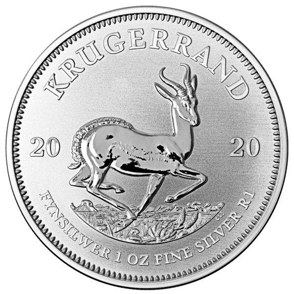 1 Rand Südafrika Krügerrand 1oz 2020 Silber St