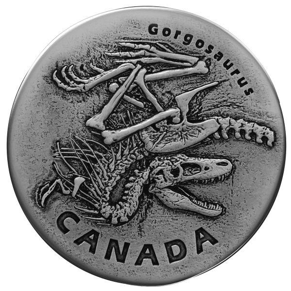 "20 $ Kanada ""Frühzeitliches Kanada - Gorgosaurus"" 2018 Ag AF"