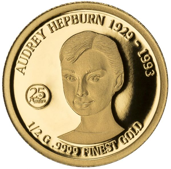 "10 $ Solomon Islands ""Audrey Hepburn"" 2018 Gold PP"