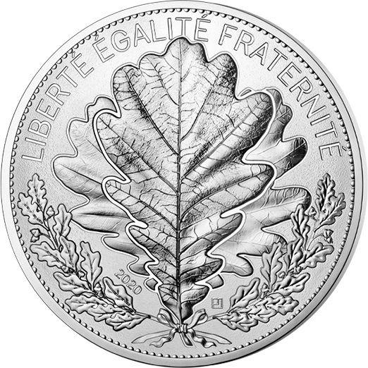 100 Euro Frankreich Die Eiche - Natur Frankreichs 2020 Silber St
