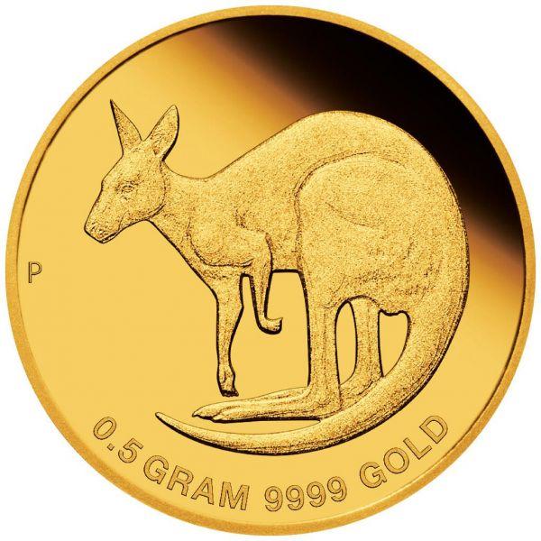 2 Dollar Australien Mini Roo 2021 Gold St