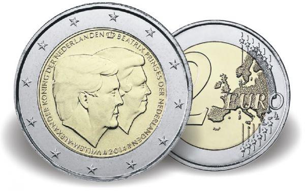 "2 € Niederlande ""Doppelportrait"" 2014 CN Blister St"