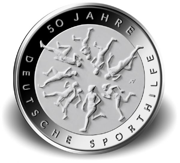 """20 € DE """"50 Jahre Deutsche Sporthilfe"""" 2017 Silber St -D-"""