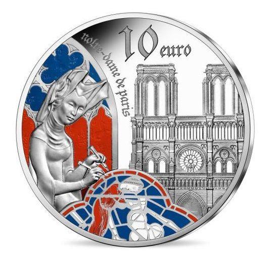 10 Euro Frankreich Gothik - Notre Dame 2020 Silber PP