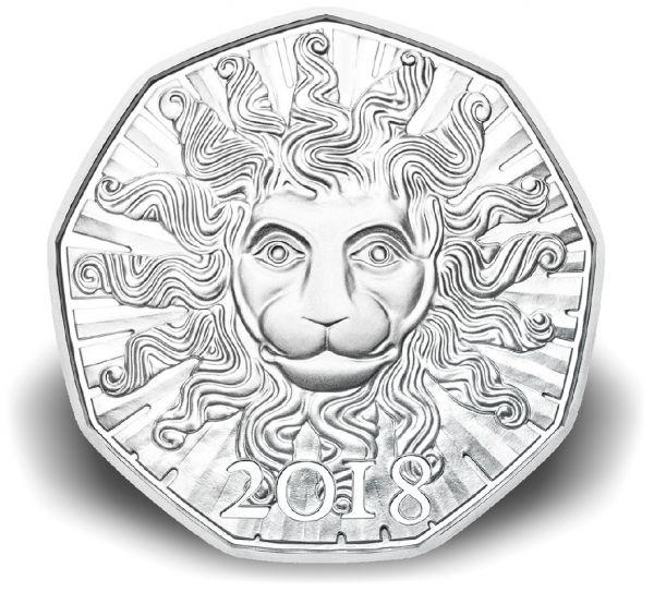 """5 € Österreich """"Löwenkraft"""" 2018 hgh Ag"""