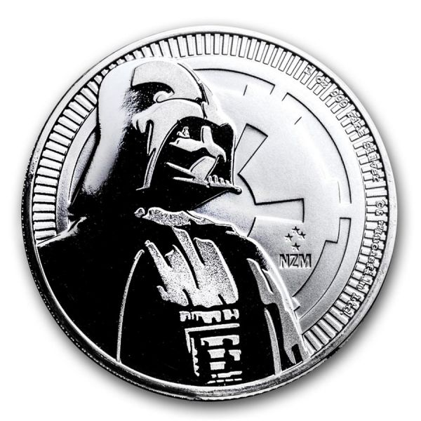 "2 Dollar Niue ""Star Wars - Darth Vader"" 2017 Ag St"