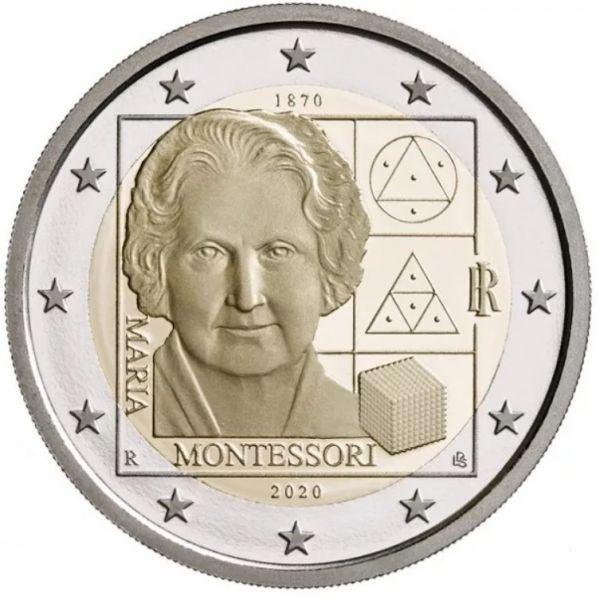 2 Euro Italien 150 Gb. Maria Montessori 2020 CuNi bfr