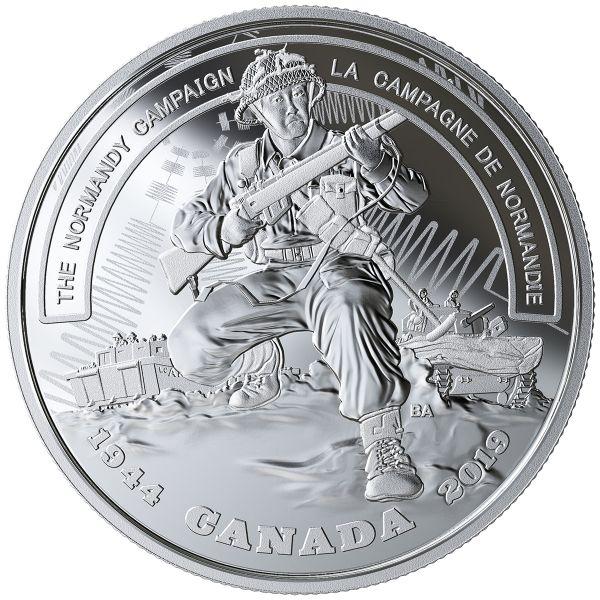 """20 $ Kanada """"Die Normandie Kampagne"""" 2019 Silber PP"""
