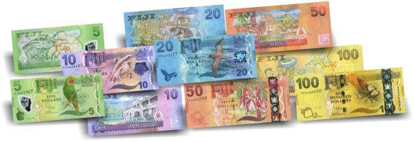 185 Dollar Fidschi Fauna Banknoten-Satz druckfrisch