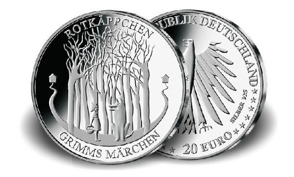 """20 € DE """"Rotkäppchen"""" 2016 Silber St -A-"""