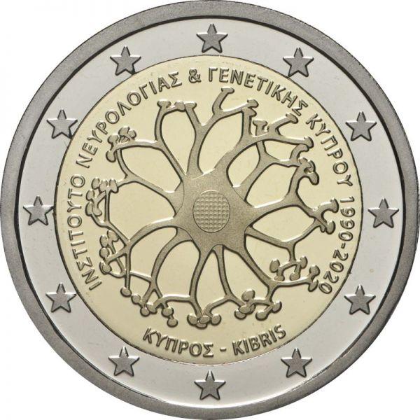 2 Euro Zypern 30 J. Institut für Neurologie/Genetik 2020 CN bfr