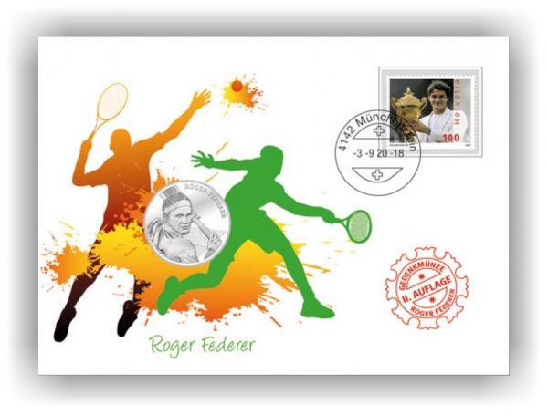 20 CHF Schweiz Roger Federer 2020 NUMISBRIEF