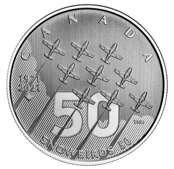 5 Dollar Kanada Moments to Hold - Snowbirds 2021 Silber St