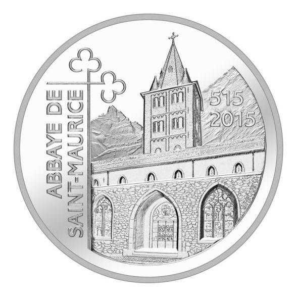 """20 CHF Schweiz """"1500 Jahre Abtei St. Maurice"""" 2015 PP Ag"""
