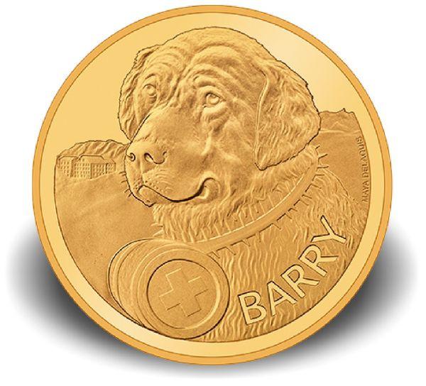 """50 CHF Schweiz """"Bernhardiner - Barry"""" 2017 Au PP"""