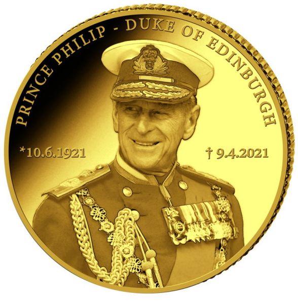 10 CFA Kongo Prinz Philip - Duke of Edinburgh 2021 Gold PP
