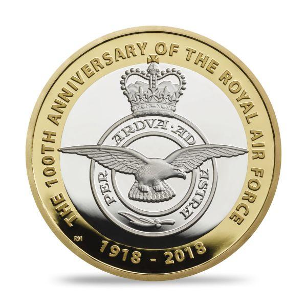 "2 £ Großbrit. ""Royal Air Force - Emblem"" 2018 Silber PP"