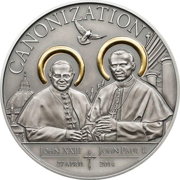"""1000 Shillings Tansania """"Heiligsprechung der Päpste"""" 14 Ag AF"""