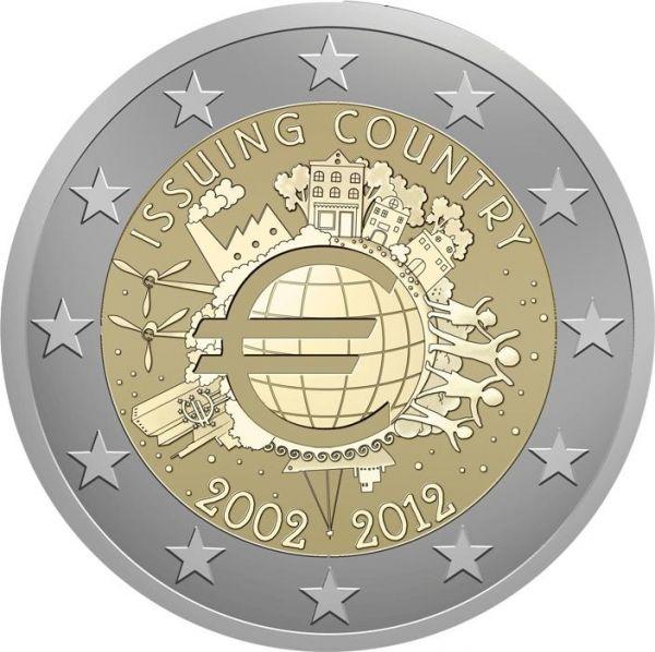 2 € Belgien 10 Jahre Euro 2012 CN PP