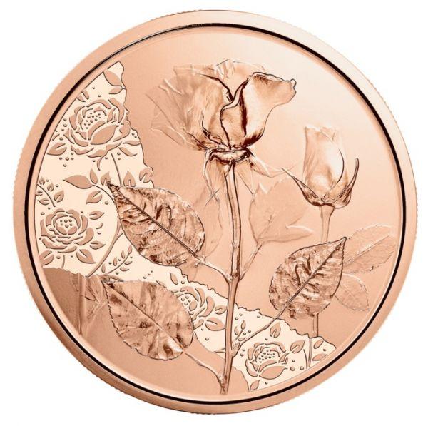 10 Euro Österreich Die Rose 2021 Kupfer vz