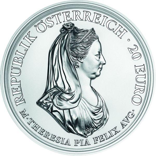 "20 € Öster. ""Maria Theresia - Milde u. Gottvertrauen"" #3 2018 Ag PP"