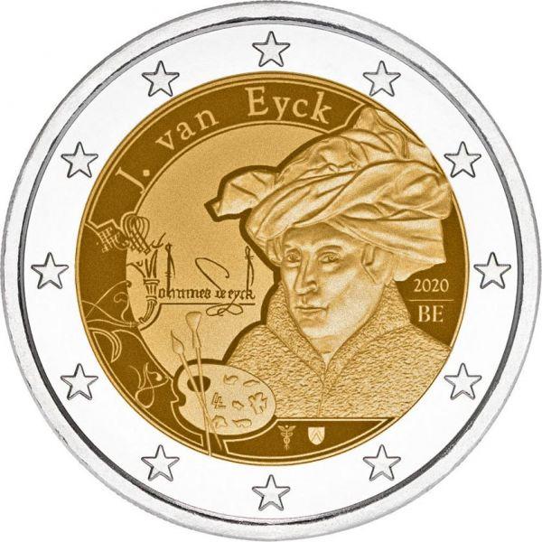2 Euro Belgien Jan van Eyck 2020 CN St -Blister-